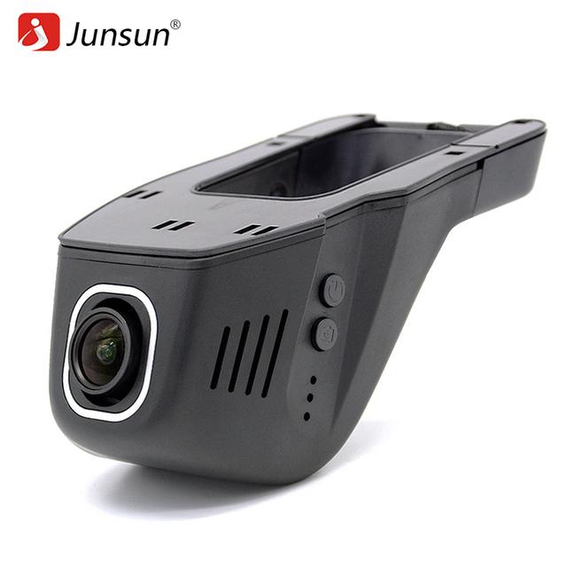 Novatek câmera do carro dvr gravador de vídeo wi-fi app junsun 96655 imx 322 dvr fhd 1080 p registrator night vision traço cam