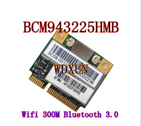 Broadcom BCM43225HMB BCM43225 Half Mini PCI-E Wifi Bluetooth3.0 Wireless Card For ACER 4750G 5750G 4352G Support MAC Systems