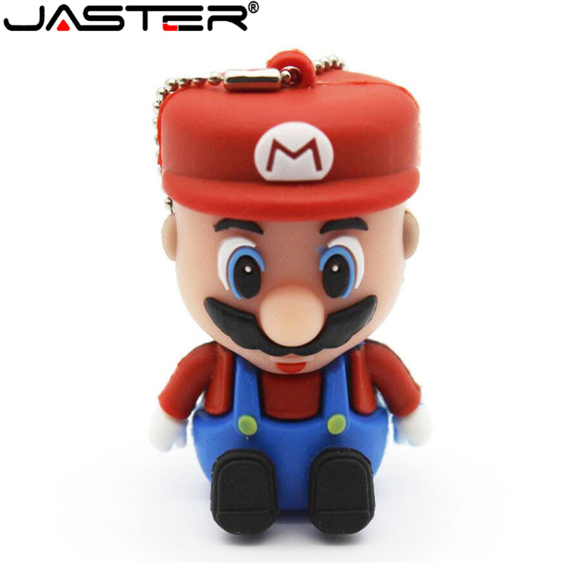 JASTER Super Mario USB Flash Drive Pen Drive Cartoon Pendrive 4GB/8GB/16GB/32GB USB 2.0 Memory Stick U Disk Fashion Gifts