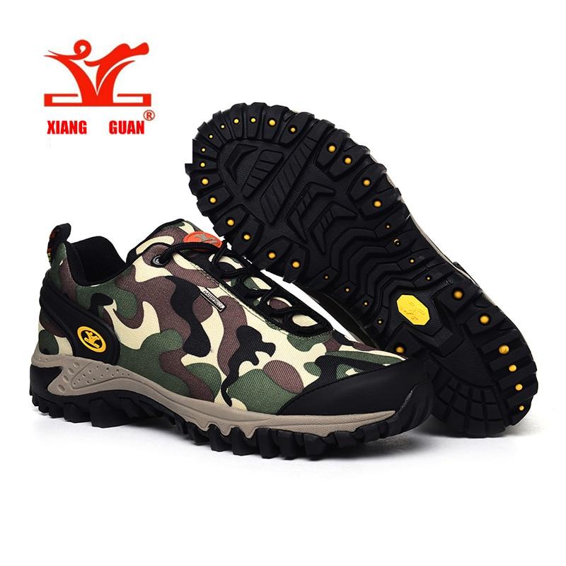 ФОТО XIANGGUAN Hiking Sneakers Men and Women Outdoor Climbing Shoes Sport Waterproof Camo Trail Trekking Trainers Damping Scarpe Da