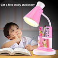 Cute Cartoon Pen container LED Desk lamp Eye Protection Table Lamps Bedroom Bedside Light Study Reading Desk Lamp for kids gift