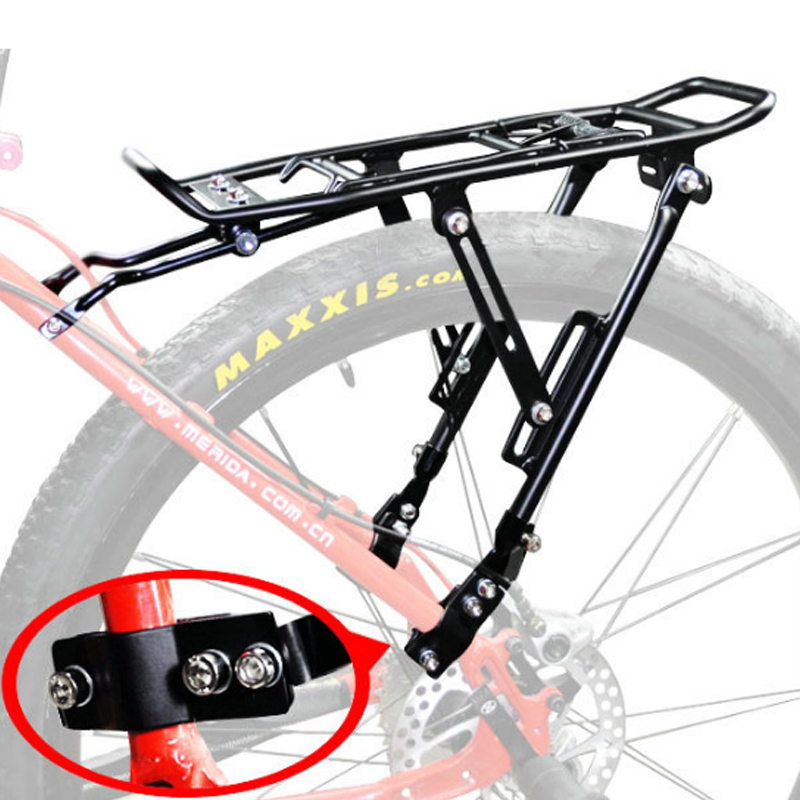 Max 25kg Bicycle Cargo Racks Bike Stand Footstock Disc