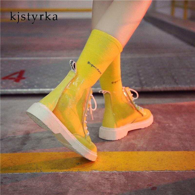 Rose Mujer Kjstyrka jaune Espadrilles Tenis Personnalité Zapatillas Feminino De Mode La Casual Transparent 2018 blanc Femme Simple Dames Sneakers pwH1qExaw