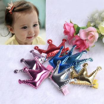 Kids Hair Clips 2PCS Hair Clips Girls Party Princess Leather Hair Style Buckle Diademas Para Meninas #2458