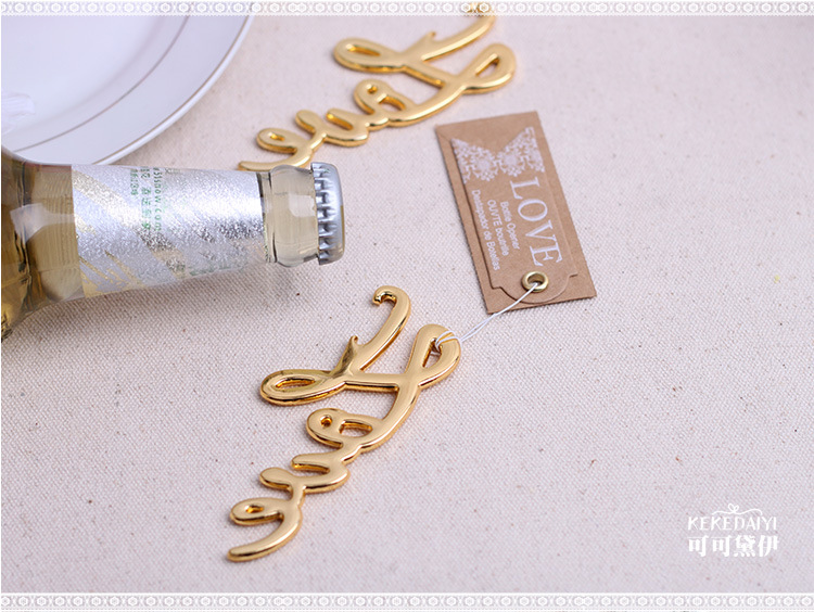 2018 New Arrival Beer Can Openers Love Wine Bottle Opener Gold/Silver Open Tool Wedding Favors Barware Tool Table Centerpieces
