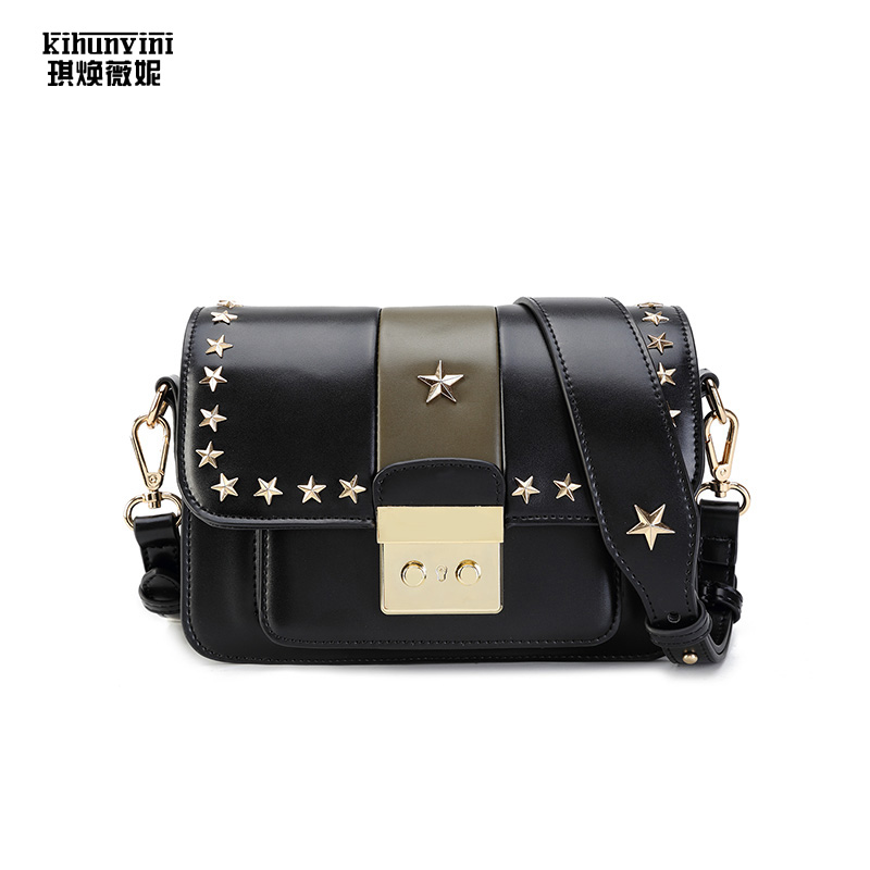 Small Messenger BagHigh Quality Luxury Bags Women Bag Famous Designer Cross Body Rivets Crossbody Bag for Lady 2018 New Bolsas 2015 special offer bolsas designer handbags high quality korean manufacturers selling new are cross printed student bag cheap