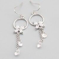 Romantic White Stone 6*6mm Semi-precious Silver Cool For Womens Earrings ED0620