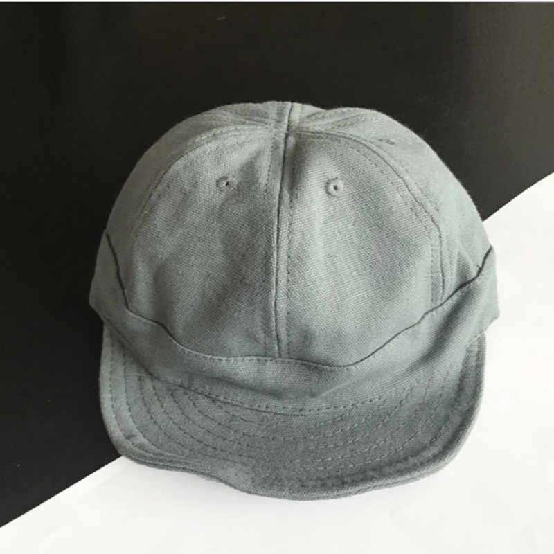 Kısa Kenarlı beyzbol şapkası Kadın Erkek Snapback Kadınlar Için Monte Kapağı Yıkanmış Pamuk Düz Aile Yumuşak Brim Vintage şoför şapkası Kadın Erkek Için