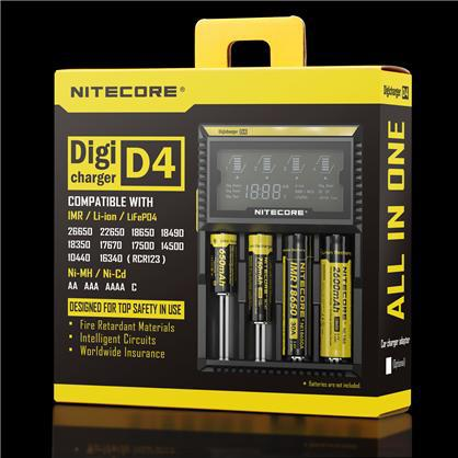 New Nitecore D4 Digicharger LCD Display Battery Charger Universal NiteCore Charger Fit Li ion LifeP04 Ni
