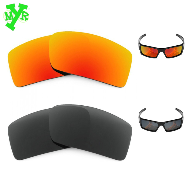MRY Stealth Black & Fire Red 2 Pair POLARIZED Replacement Lenses for ...