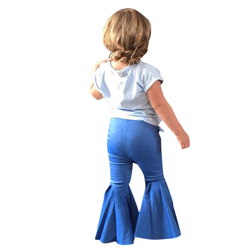 Fashion Toddler Girls Children's Trousers Jeans Flared Trousers Slacks Clothes Pants For Kids Girls Conjunto Infantil 40ja15