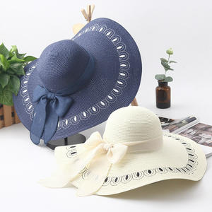 bc701acf712 HSS Summer ladies big brim sun hat bow women straw hat