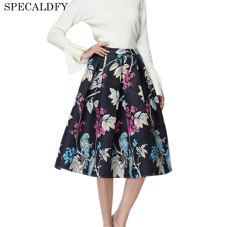 2018 New Fashion Designer Brand Runway Skirts Womens Vintage Floral ...