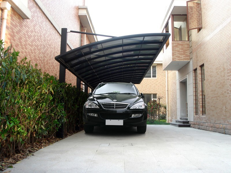 Luxury Aluminium garden carport car shelter car canopy with aluminum alloy frame and PC sheet-in Garages Canopies u0026 Carports from Home u0026 Garden on ... & Luxury Aluminium garden carport car shelter car canopy with ...