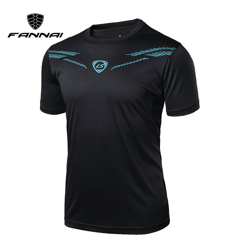 FANNAI t shirt men Sport Running Shirts Tops Tees Men T-shirt Fashion Short Sleeve Gym workout Fitness Sportswear Designer mens casual 3d personality skull printing short sleeve t shirt cotton sport black tees