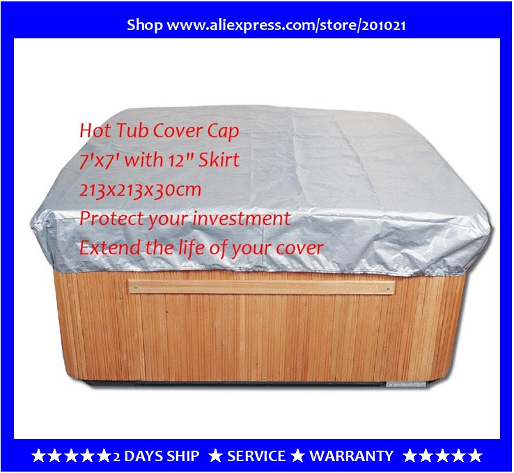 free shipping hot tub cover cap prevent snow, rain&dust, 213x213x30cm7' x 7'x 12 ,can customize spa, swim spa cover bag 2200mmx1900mm hot tub spa cover leather skin can do any other size