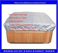 free shipping hot tub cover cap prevent snow, rain&dust, 213x213x30cm7' x 7'x 12 ,can customize spa, swim spa cover bag