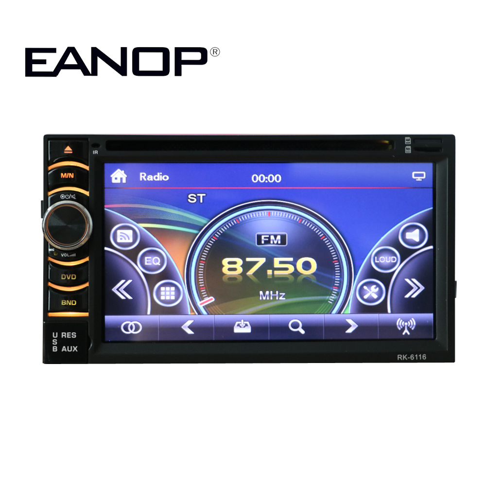 EANOP Touch Screen  6.5'' LED Car DVD Audio Vedio Player Bluetooth 2 DIN Support Mp3 Mp5  AUX IN DVD CD Phone Call car monitor блокада 2 dvd