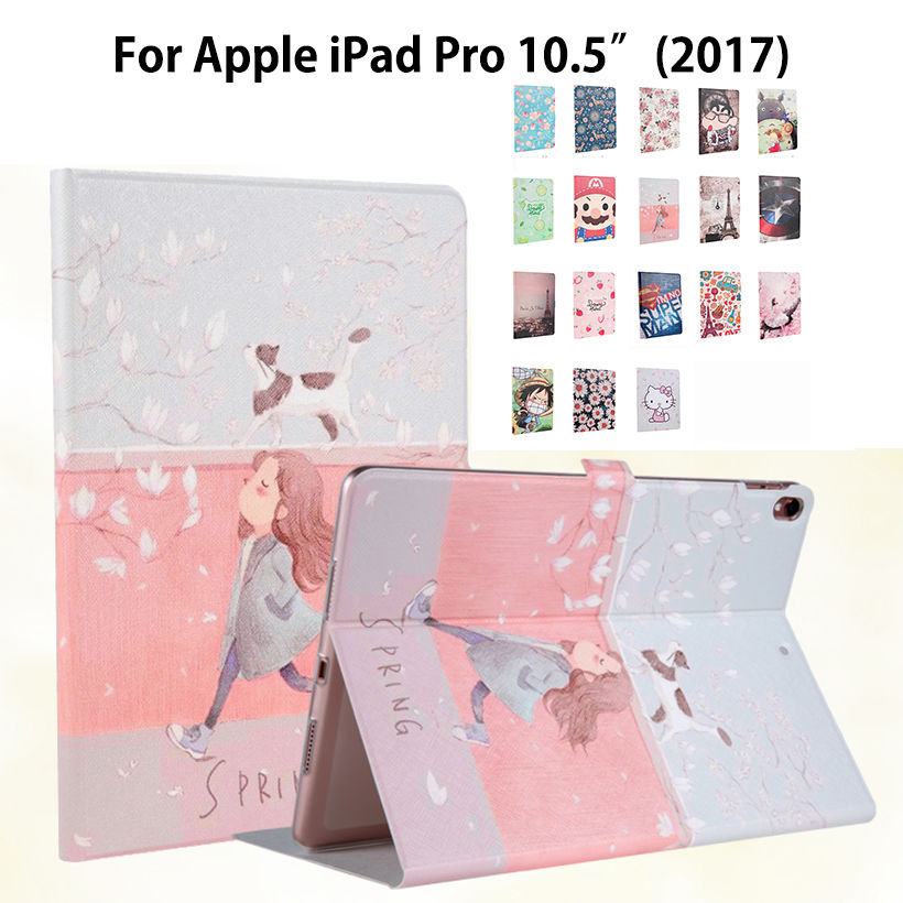 Slim Painted Case For Apple iPad pro 10.5'' 2017 A1701 Smart Cover Funda Soft TP