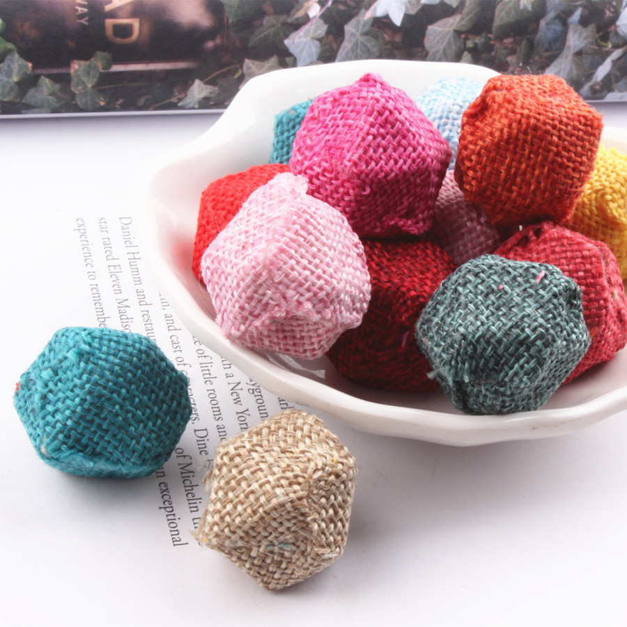 Ritoule Pack cotton woven tetragonal diamond beads pendant Maomao ball bead sank materials manual accessories diy Korean jewelry in Jewelry Findings Components from Jewelry Accessories