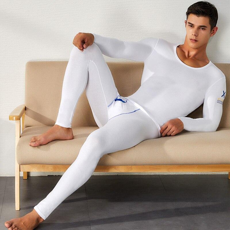 Hommes coton Long john ensemble garçon nouveau hiver Compression sous-vêtement thermique hommes mode élastique Fitness Crossfit homme pantalon noir