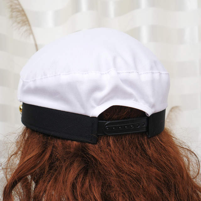 ee68a668 White Yacht Captain Navy Marine Skipper Ship Sailor Military Nautical Hat  Cap Costume Adults Party Fancy Dress-in Military Hats from Apparel  Accessories on ...