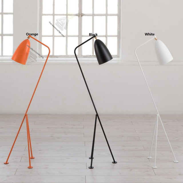 modern tripod industrial floor lamp stand arm simple lamps light fixtures for living room decoration colorful