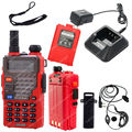 BAOFENG UV-5RB VHF/UHF Dual Band 136-174/400-520 DSC CTCSS Two Way Radio Red LB0497 Free shipping