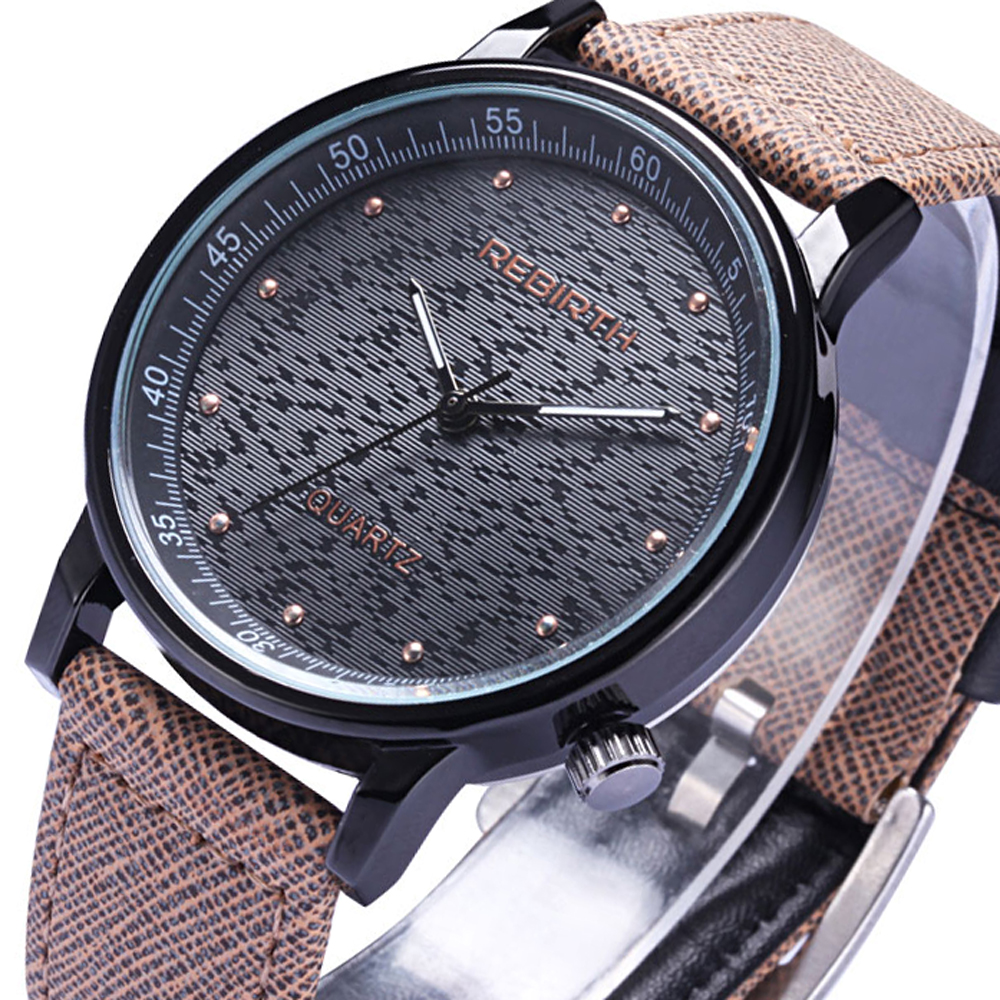 REBIRTH Sport Quartz Watch Men Casual Top Brand Luxury Mens Wrist Watches Business Clock Male Military Army Classic Clocks Gift ...