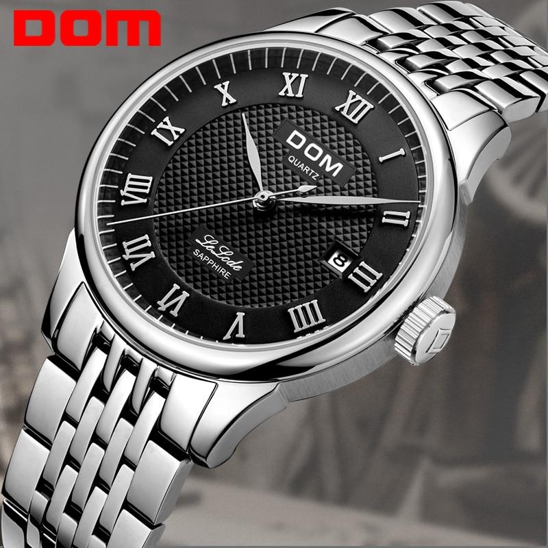 DOM Mode Heren Horloges Topmerk Luxe Quartz Horloge Heren Casual - Herenhorloges - Foto 2