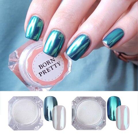 2 Boxes/set Mirror Nail Glitter Powder Blue Purple Color Chrome Pigment Dust Manicure DIY Nail Art Decorations for UV Gel Polish Pakistan