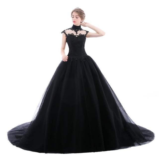 Black Wedding Dresses Plus Size