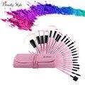 VANDER 24Pcs Makeup Brushes Set Oval Beauty Stylish Cosmetics Eyebrow Shadow Powder Pincel Make Up Maquiagem Tools + Pouch Bag
