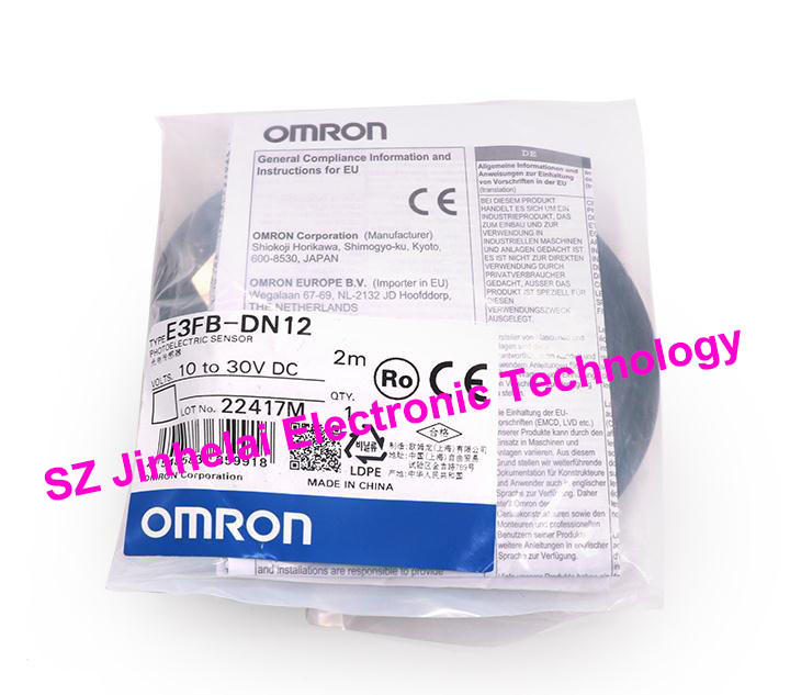 E3FB-DN12, E3FA-RP12  New and original OMRON Photoelectric Switch  10-30VDC  2M e3x da21 s photoelectric switch