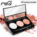 Msq 3 cores da sombra profissional paleta de maquiagem mate para a moda beleza 5 paleta pode escolher