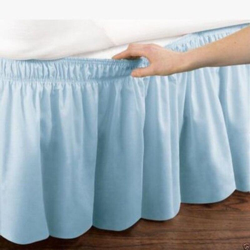Бесплатная доставка цвет синий, черный; Большие размеры 34–43 Бирюзовый без кровать поверхности резинка юбка кровать фартук покрывало Твин П...