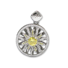 925 Sterling Silver Rotating Flower Pendant Necklace Charm Wedding For Bride ID36079