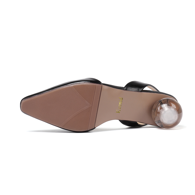 Schuhe Slingback Dame Leder 41 Spitz Größe gelb Kristall Sommer Echtem Luxus Frauen Schwarzes Kcenid 2019 Frau Ferse weiß Sandalen Plus 7OAvqSwxnw