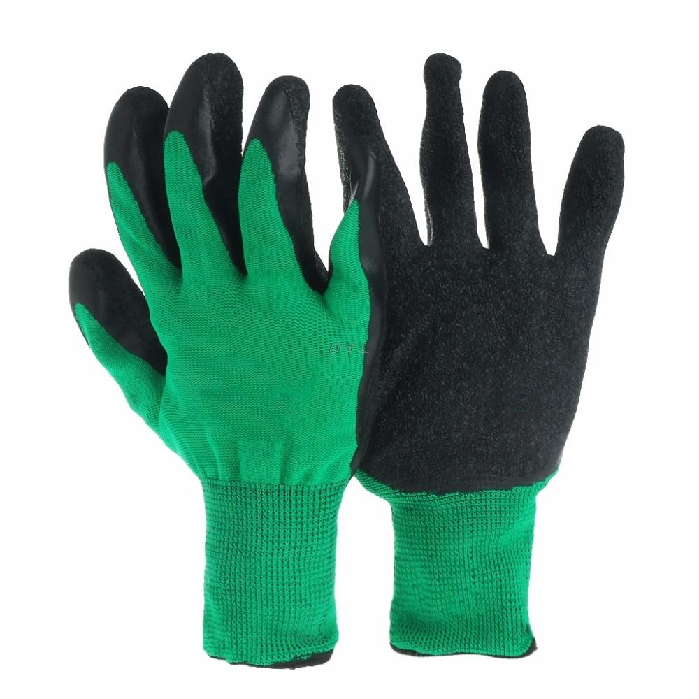 1 Paar Nylon Latex Beschichtet Palm Arbeits Handschuhe Sicherheit Grip Garten Reparatur Builder