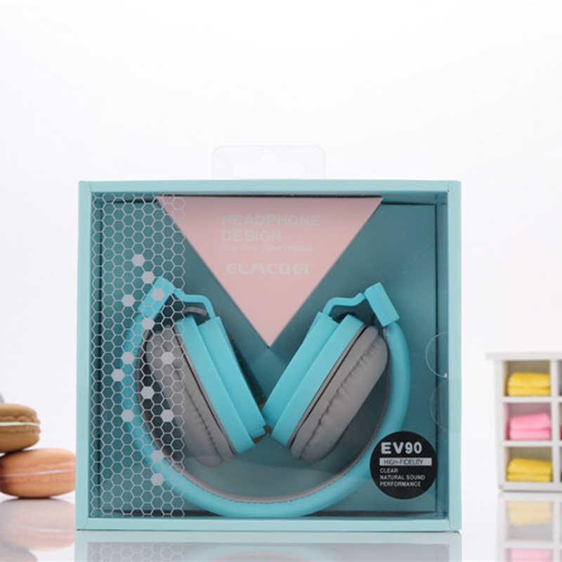 Hadiah Ulang Tahun Yang Indah Headphone Permen Warna Lipat Bayi Headset dengan Mikrofon Headphone untuk Mp3 Smartphone Gadis Xiaomi