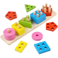 Child puzzle geometry shape set column building blocks male girl baby column puzzle toy 1 - 3 - 6