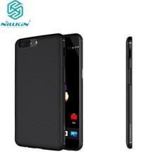 OnePlus 5 Nillkin Synthetic Fiber чехол для сотового телефона 1 плюс 5 A5000 один плюс 5 жесткого углеродного волокна pp пластиковые задняя крышка