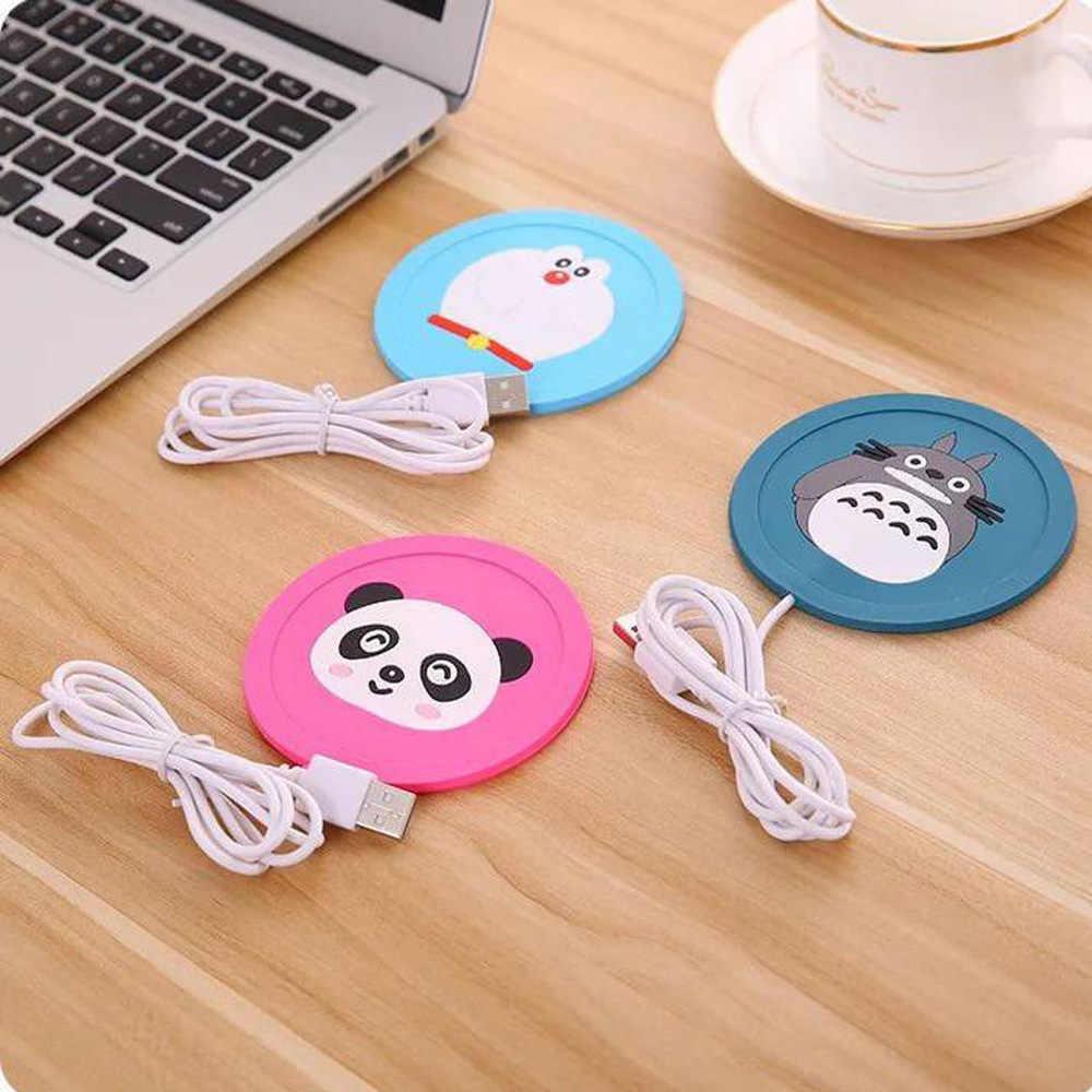 Милый мультфильм 5 В USB нагреватель силиконовый нагреватель для молока чай кофе кружка горячие напитки чашка коврик, кухонные инструменты