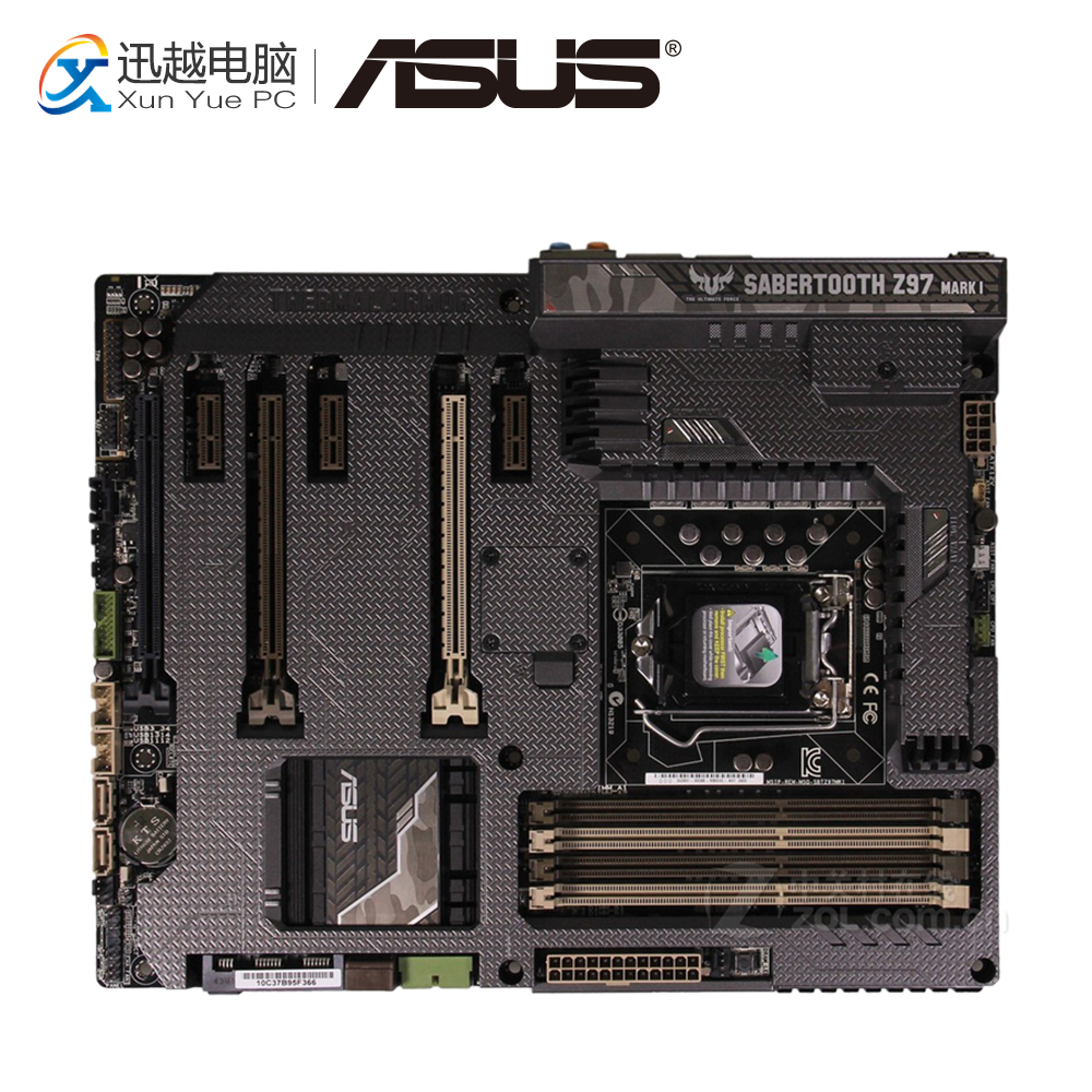 Asus SABERTOOTH Z97 MARK 1 Desktop Motherboard Z97 Socket LGA 1150 i7 i5 i3 DDR3 32G SATA3 ATX protective wallet style pu leather case w card slot for iphone 5s deep pink