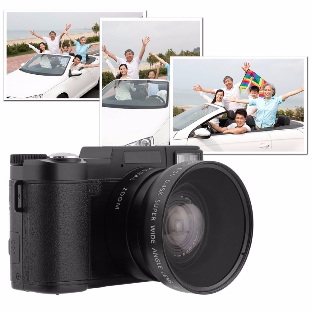 HD Digital Camera DC-R2 Zoom Lens 4X Digital Zoom Macro 52mmW 3.0 TFT 24.0MP Baicmos Camcorder dc v100 15mp cmos digital camera w 5x optical zoom 4x digital zoom sd slot pink 2 7 tft