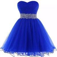 Прекрасный Милая бальное платье выпускников платья королевский синий короткое платье на выпускной Новый Женское вечернее платье с оборкам