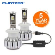 цена на Flintzen Car LED Headlight Bulbs All in One H7 H11 H1 H3 9005 9006 9012 50W H4 LED car headlight Bulbs Auto High Low Beam Lights