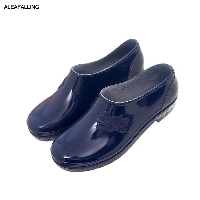 Aleafalling Männer Regen Stiefel Wasserdichte Schuhe Unisex Outdoor Garten Küche Bauernhof Arbeit Schuhe Jungen Auto Waschen Schuhe Aw04 Home