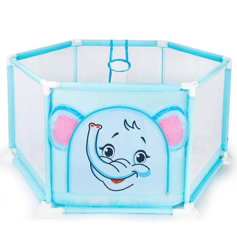 Enfants enfant sécurité jeu clôture Portable en plastique bébé activité parc dessin animé bébé jouer cour intérieure bébé sécurité Pla cour jeu clôture