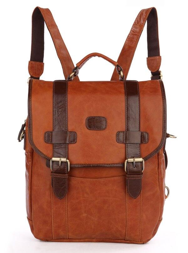 Women Genuine Leather School Backpack Bags 2018Woman GirlTravel Brand Designer 14Laptop Vintage Anti Theft Backpack BookBags
